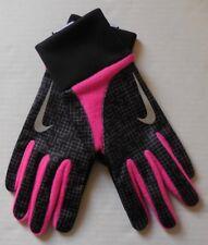 NIKE Women's Printed Element Thermal 2.0 Run Gloves Black/Vivid Pink/Silver New