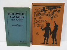 More details for vintage brownie games book 1930 & brown book for brown owls 1930 (b116)