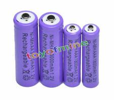 2+2 AAA AA 1800mAh 3000mAh NiMH Rechargeable Battery PU