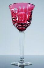 Art Deco 1 Glass Wine Crystal Pink Colour White Size Boheme