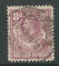 STAMPS-NORTHERN RHODESIA. 1925. 8d Rose-Purple. SG: 8. Fine Used