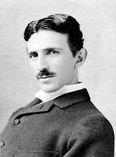 "Nikola Tesla Historical Photograph by Napoleon Sarony - 17""x22"" Art Print- 00084"