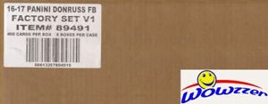 2016 Donruss Football Factory Sealed Factory Set CASE(8 Sets)-3200 Card-800 RC'S