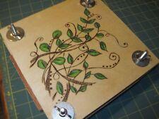 Handmade Flower Botanical Press - Woodburned And Oil Pencil Artwork