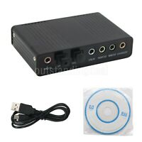 USB External S/PDIF Optical Sound Card Stereo Channel 5.1 DAC Audio Line In os12
