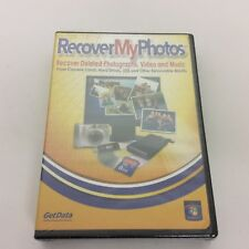 Recover My Photos Software GetData Cosmi Windows 7 NT 2000 XP 2003 - NEW