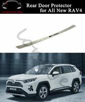 Rear Door Plate Fits For All New RAV4 2019 2020 Bumper Cover Sill Trim Scuff