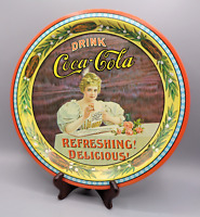 VTG Drink Coca Cola Round Tin Tray Numbered 1976 Coke 75th Anniversary