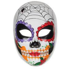 Día de los muertos Cara Máscara Halloween Elaborado Vestido Disfraz Utilería Cráneo Mexicano