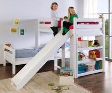 Etagenbett mit Rutsche BENI L Kinderbett Spielbett Bett Weiß