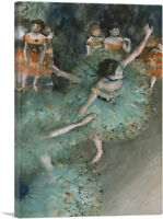ARTCANVAS Swaying Dancer - Dancer in Green 1879 Canvas Art Print by Edgar Degas