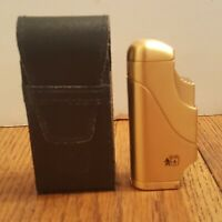 Vtg rare Colibri 35002 Gold TRIPLEX triple flame Lighter