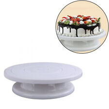 White Plastic Turntable Rotating Cake Stand Spinning Cake Decorating Stand