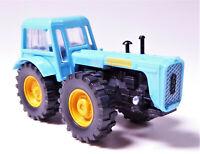 H0 Traktor Schlepper D 4 K Radtraktor hellblau Premium Edition LPG DDR 14180831