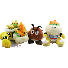 "New Super Mario 7'' Koopa Jr. Bowser &10"" Bowser King Koopa & Goomba Plush Doll"