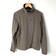 COLUMBIA Jacket Titanium Zip Front Long Sleeve Pockets Tan Mens XL