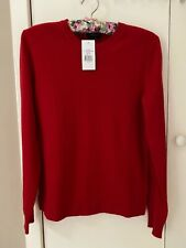 Polo Ralph Lauren ladies red 100% cashmere jumper sz M BNWT