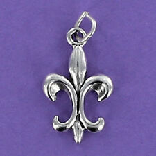 Fleur de Lis Charm Sterling Silver 925 for Bracelet New Orleans Saints Flower