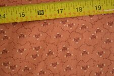 By 1/2 Yd, Calico on Lt-Rust Quilting, Thimbleberries/Village Green, 0181 3, B72