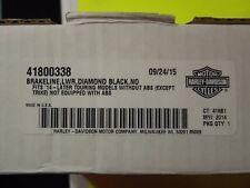 NOS OEM Harley Davidson BRAKELINE,LWR,DIAMOND BLACK,NON-ABS - P/N 41800338