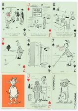 Playing cards TEE-UP FUNNY GOLF SPORT Poker By VIC TAKE Comic