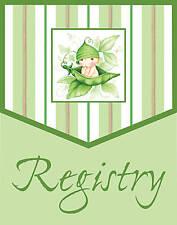 Sweet Pea  Registry  Baby Shower/ 1ct