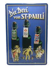 Blechschild Werbung Die drei von St.Pauli Bier Astra Hamburg 20x30cm 20 x 30 neu