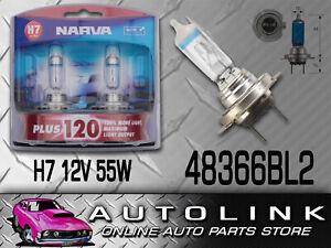 NARVA H7 +120% DRIVING SPOT LIGHT GLOBES 12V 55W 48366BL2 PAIR 120% BRIGHTER