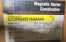 General Electric Magnetic Starter w/ Enclosure 4/4x Size 2 30-100A 600V New 120V