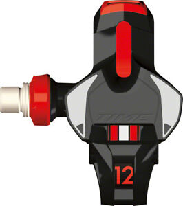 Time Xpro 12 Carbon Road Bike Pedals Titanium Spindle with cleats Black/Red
