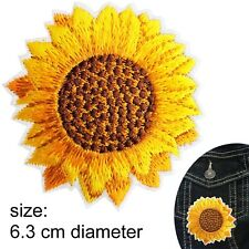 Sunflower Iron on patch sun flower head iron-on heat transfer summer patches