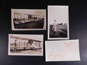 1932 Signed Johnny Miller & Al Wilson Original Photo w/1911 Pusher Airplane 678