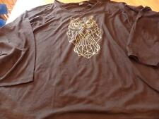 "NWT! ""JUST MY SIZE"" WOMEN'S BLACK OWL L/S SHIRT SIZE 4X (26W-28W)"