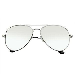 SUNGLASSES Polarized Mens Womens Full Mirrored Mirror Silver Aviator Sunglasses