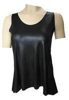 Tshirt Lederoptik XXL-Größen A26 - Lackoptik Leder Lack T-Shirt Top Bluse