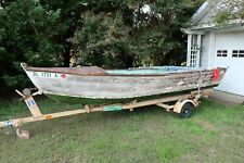 1953 Delano Wooden Boat Skiff with Trailer - Project