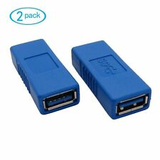 2 X USB 3.0 Type A Female to Female Adapter Coupler Gender Changer Connector NEW