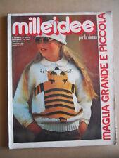MILLEIDEE n°11 1980 - rivista di moda e lavori femminili  [C53]