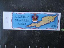 Sellos de ANGUILLA. Booklet of 2 each, 25th anniversary of Queen Elizabeth II