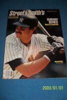 1988 Street & Smith's Yearbook NEW YORK Yankees DON MATTINGLY Donny Baseball