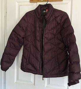 CRANE Puffer  Purple Jacket Coat Size M Pockets Hidden Hood EC