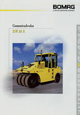 Prospekt Bomag Gummiradwalze BW 24 R 3/01 2001 Broschüre Baumaschine brochure