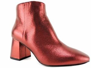 Ash Women's Heroine Booties Red Leather EUR Size 38 M
