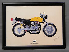 [illustration] HONDA CB400 Four YOSHIMURA yellow illustration with frame Japan