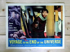 VOYAGE TO THE END OF THE UNIVERSE Original SCI-FI SPACE GUN Lobby Card AIP