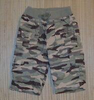 Baby Gap Boys Camo Pants Ribbed Elastic Waist Roll Up Hem Size 3-6m EUC