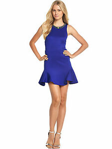 LITTLEWOODS FLARED ELECTRIC BLUE DRESS SIZE 18 RRP £57