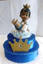 PRINCE CROWN BOY BABY SHOWER BIRTHDAY CAKE TOPPER CENTERPIECE  DECORATION