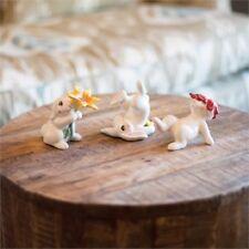 New! Set of 3 Fitz & Floyd Bunny Blooms Tumblers Set Easter Figurine - #21-091
