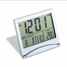 Foldable Digital Lcd Screen Travel Alarm Clocks Thermometer Timer Calendar Home